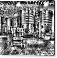 Vat To Barrel Acrylic Print by Jimmy Ostgard