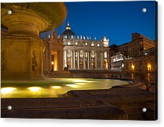 Vatican At Blue Hour Acrylic Print by Stavros Argyropoulos