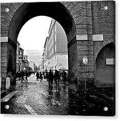 Vatican City Wall Rainy Acrylic Print by Heather Marshall