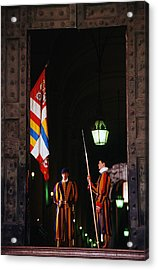 Vatican Swiss Guards Acrylic Print by Carlos Diaz