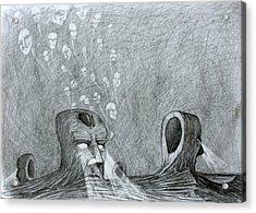 Acrylic Print featuring the drawing Vault Of Souls by Mariusz Zawadzki