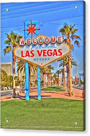 Vegas Acrylic Print by Barry R Jones Jr