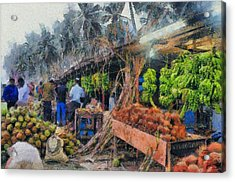 Vegetable Sellers Acrylic Print