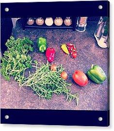 #veggies From Our #garden Acrylic Print