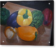 Veggies In Waiting Acrylic Print by Mary Dunn