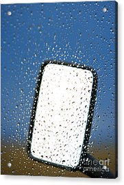 Vehicle Side Mirror Acrylic Print by David Buffington