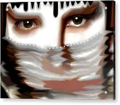 Acrylic Print featuring the painting Veiled Sadness by Susan  Solak