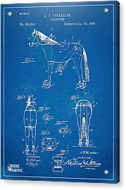 Velocipede Horse-bike Patent Artwork 1893 Acrylic Print by Nikki Marie Smith