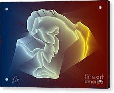 Acrylic Print featuring the digital art Velvet by Leo Symon
