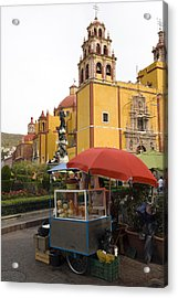Vending Cart Outside Of The Basilica De Acrylic Print by Krista Rossow