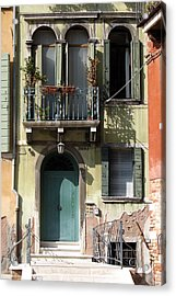 Acrylic Print featuring the photograph Venetian Doorway by Carla Parris