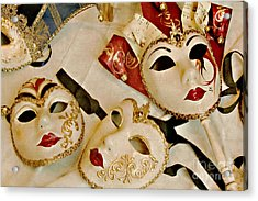 Venetian Masks Acrylic Print by Gerda Grice