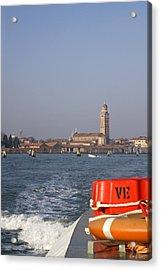 Acrylic Print featuring the photograph Venezia. From The Ferry To Murano. by Raffaella Lunelli
