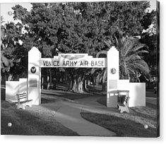 Venice Army Air Base Entrance Acrylic Print by John Myers
