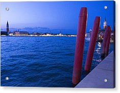 Venice At Sunset Acrylic Print by Michel Colinet