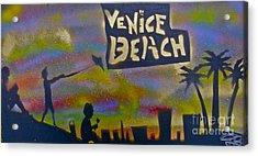 Venice Beach Life Acrylic Print by Tony B Conscious