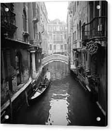 Acrylic Print featuring the photograph Venice Canal by Emanuel Tanjala
