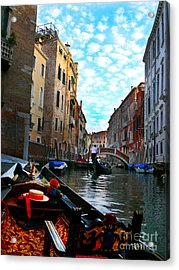 Acrylic Print featuring the photograph Venice Canal by Jeanne  Woods