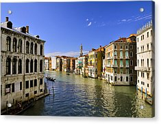 Venice Canale Grande Acrylic Print by Travel Images Worldwide