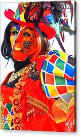 Acrylic Print featuring the photograph Venice Carnival by Graham Hawcroft pixsellpix