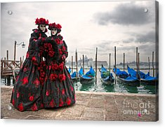 Acrylic Print featuring the photograph Venice Carnival Mask by Luciano Mortula