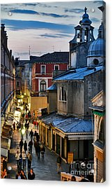 Venice From Ponte Di Rialto Acrylic Print