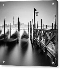 Venice Gondolas II Acrylic Print by Nina Papiorek