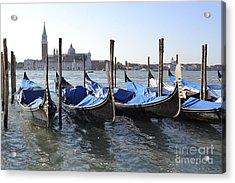 Acrylic Print featuring the photograph Venice Gondolas by Rebecca Margraf