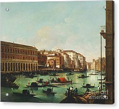 Venice Grand Canal Acrylic Print by Pg Reproductions