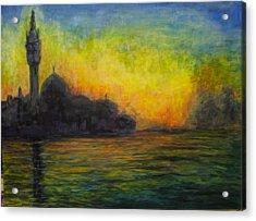Venice Illuminated Acrylic Print
