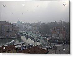 Acrylic Print featuring the photograph Venice In Fog by Raffaella Lunelli