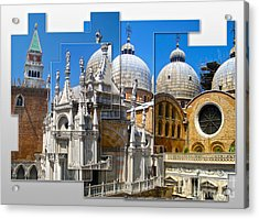 Venice Italy - Cathedral Basilica Of Saint Mark Acrylic Print by Gregory Dyer
