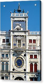 Venice Italy - Clock Tower Acrylic Print by Gregory Dyer