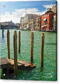 Venice Italy - Grand Canal View Acrylic Print by Gregory Dyer