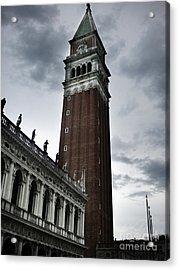 Venice Italy - Saint Marks Campanile Acrylic Print by Gregory Dyer