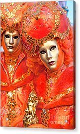 Acrylic Print featuring the photograph Venice Masks by Luciano Mortula