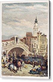 Venice: Rialto, 1833 Acrylic Print by Granger