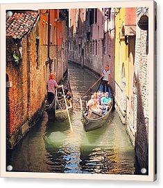Venice Traffic Jam Acrylic Print