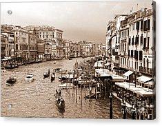Venice Vintage Acrylic Print by Holger Ostwald