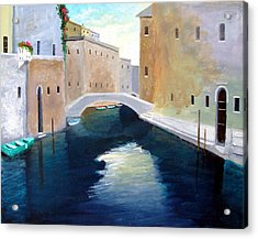 Acrylic Print featuring the painting Venice Water Dance  by Larry Cirigliano