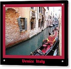 Venitian Gondola   Venice Canal Italy Acrylic Print