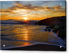 Acrylic Print featuring the photograph Ventura Beach Sunset by Lynn Bauer