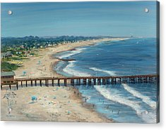 Ventura Pier Summer Time Acrylic Print by Tina Obrien