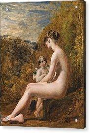 Venus And Cupid  Acrylic Print by William Etty