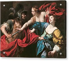 Venus Preventing Her Son Aeneas From Killing Helen Of Troy Acrylic Print
