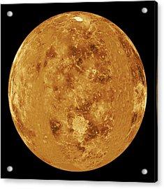 Venus, Radar Map Acrylic Print by Jplnasa
