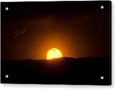 Venus Transit Setting Over The Rocky Mountains Acrylic Print