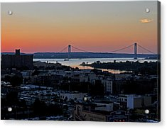Verazano Sunset Acrylic Print by Diane Lent