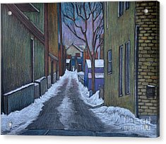 Verdun Alley In Early Spring Acrylic Print