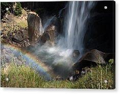 Vernal Falls Rainbow On Mist Trail Yosemite Np Acrylic Print